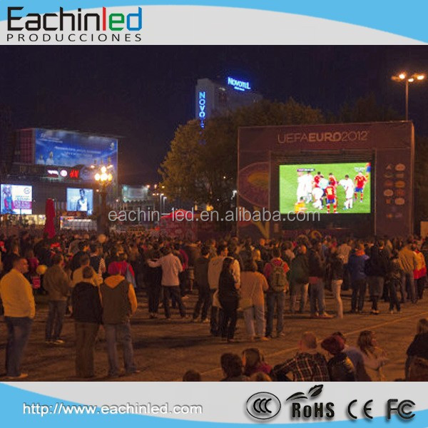 Rental LED display P10 with super thin cabinet good heat dissipation high quality image of outdoor use live show