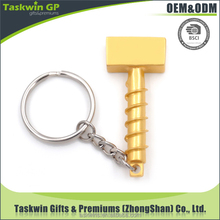 Cheap custom small hammer shape metal keychain for business wholesales