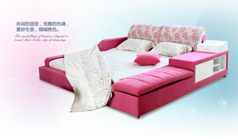 pink tatami bed design for girl and kids
