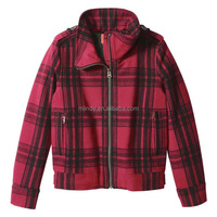 Blazer Women Jackets Long Sleeve Plaid Flannel Warm Shirt Fleece Lined Blouse Up Winnter Jacket Coat For Women
