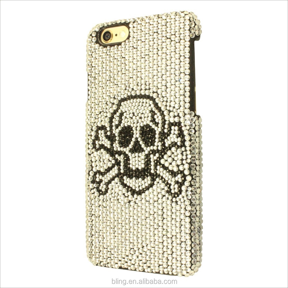 2016 new Cool Diamond Skull cell phone case for iphone 6 Skeleton Image hard phone cover