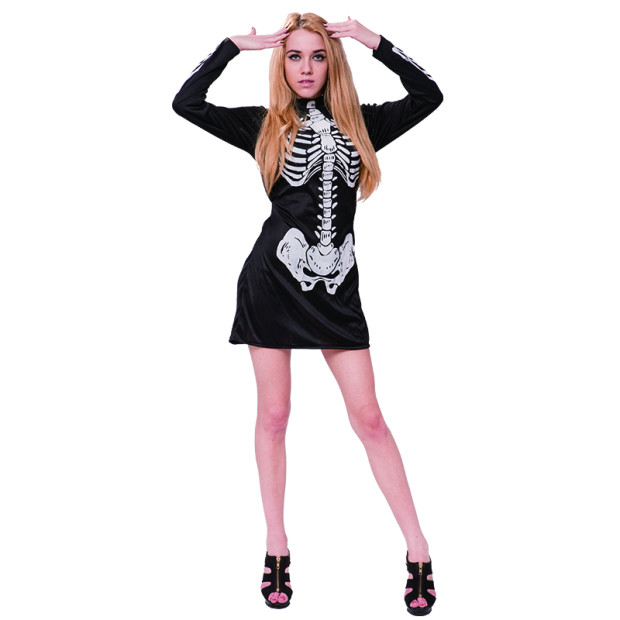 Halloween adult and kids Costumes Skeleton bones Sexy Fancy Dress Cosplay Costume Manufacturers China suppliers wholesale