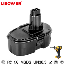 Libower CE/Rohs certificated Dewalt 18v battery NI-MN 3000mah cordless drill battery replacement for dewalt DC9096 DW9095 DW9098