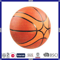 new style made in China good quality customized logo orange rubber basketball