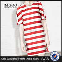 MGOO Imported 2015 Wholesale Dress For Women Your Brand Red White Dresses Fashion Thick New Style Design MA151SKT16