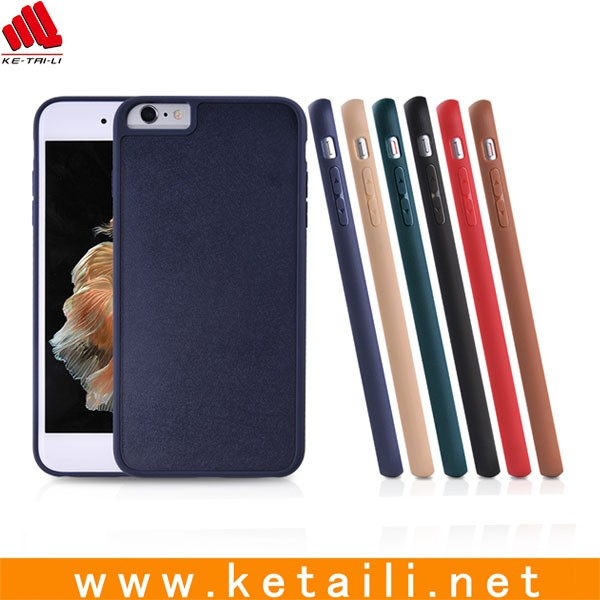 Hard Plastic PC Phone Case For iphone 6 6S with groove on backside