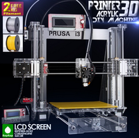 2015 Upgraded Quality High Precision Reprap Prusa i3 DIY 3d Printer kit with 2 Rolls Filament 8GB SD card and LCD for Free