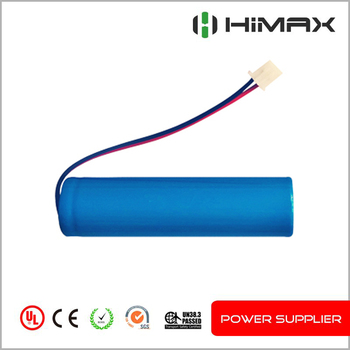 18650 3.7V 2200mAh PCM wires cylindrical Li-ion recharge battery
