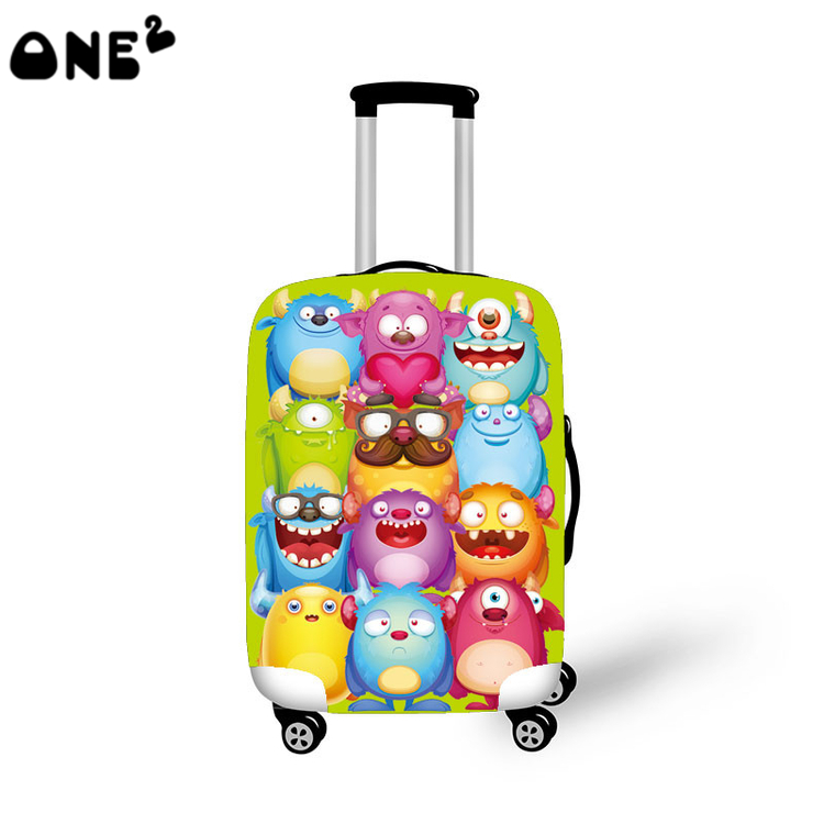 One2 popular cartoon sexy design protective cover luggage suitcase girls lady women boys teenager high school students