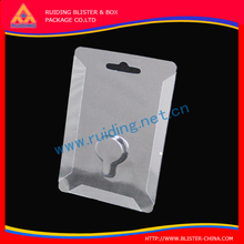 high quality hard PVC folding packaging box for headphone (without printed)