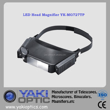 LED Illuminated Head Magnifier Loupe / LED Headlight Magnifier / LED Helmet Magnifier Lamp