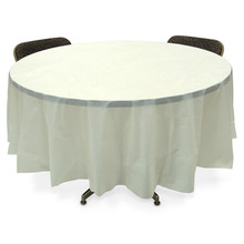 ivory plastic 84'' round table covers party decorations