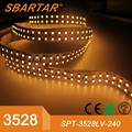 IP20 double row Pure white SMD3528 240leds/m led flexible strip with CE RoHS