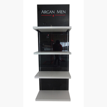 Best quality fashion cosmetic retail store 3 tiers wood display stand shelf