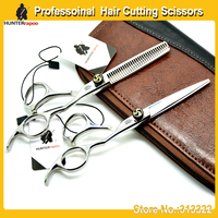 "HUNTERrapoo 6.0"" professional Barber Scissors Set for Hair Stylist,Razor Edge Cutting Scissor & Thinning Shears"
