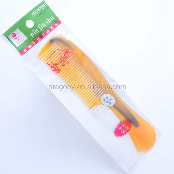 wholesale unbreakable cowhells small gift travel using plastic hair comb