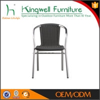 Aluminum frame rattan outdoor furniture cheap cafe chairs