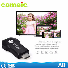 anycast with wifi display dongle DLNA display miracast airplay Allcast
