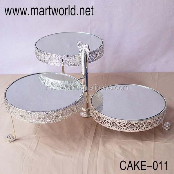 2018 Hot Silver crystal metal cake stand wedding crystal cake stands birthday cake stand party cake stand(cake-005)