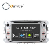 Octa Core 32G ROM 7 inch car dvd video for Ford f-ocus 2008 2009 2010 2011 2012 support gps navigation 4G-LTE Wifi DAB+