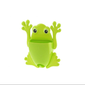 eco-friendly plastic frog shaped toothbrush holder