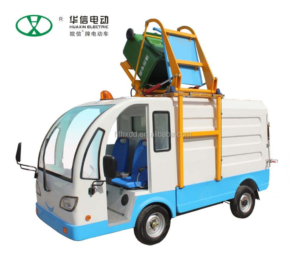 Good quality HUAXIN Pure electric Side-loading Waste Collection truck