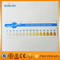 Teeth whitening shade guide paper, Wholesale cheap shade guide
