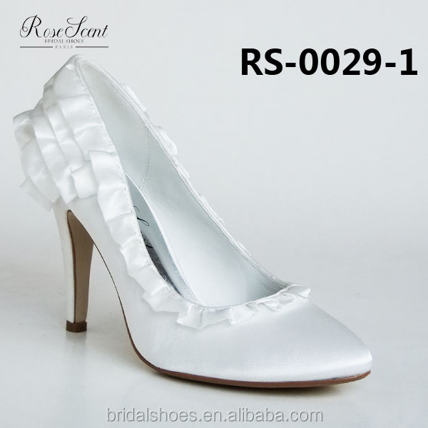 Dyeable purfle close toe classic lady wedding shoes