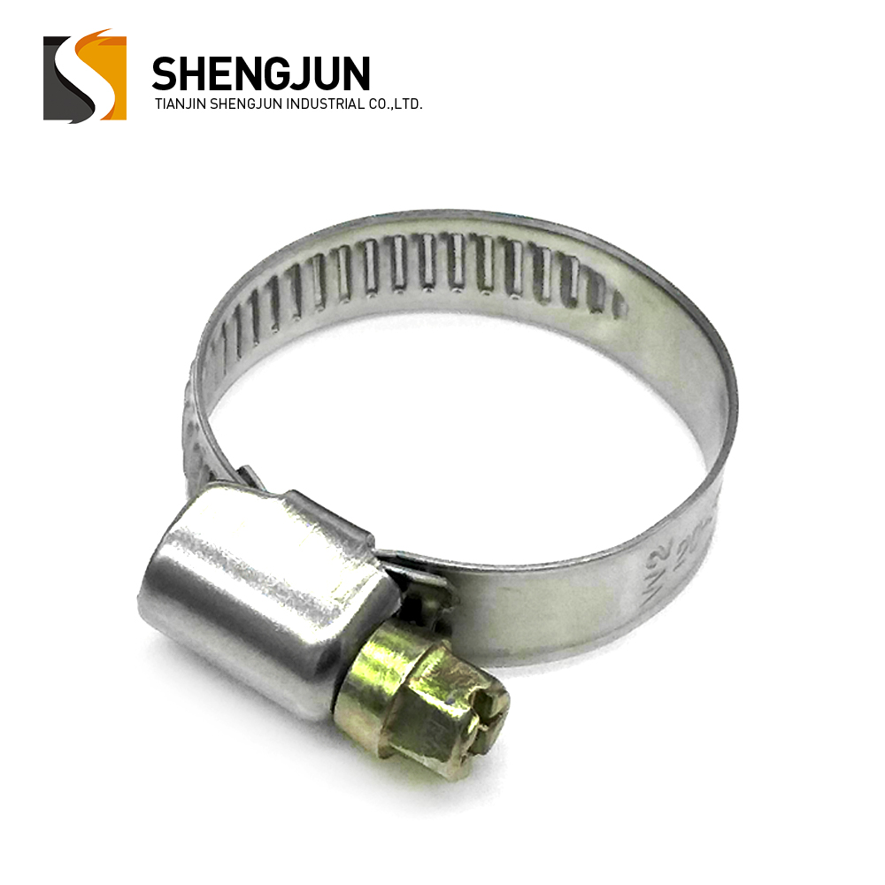 Adjustable 9mm band stainless steel quick lock large german type hose clamp 25-40mm