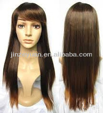 hot selling synthetic kinky straight lace front wigs