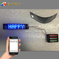 New! P3.25-7x29 Exchange battery pack Smart Phone Bluetooth App Communication LED Flexible Sign for Cup