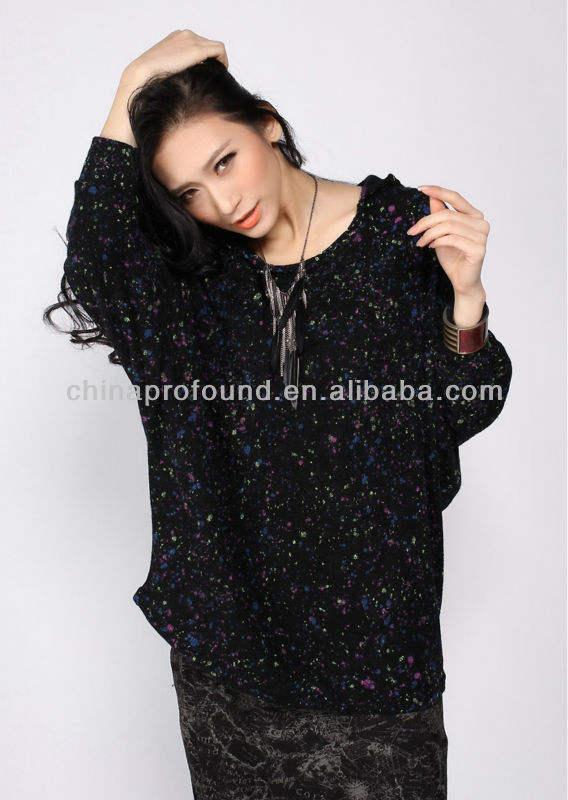Custom printing cotton casual loose thermal pullover hoodie without string for women