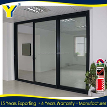 Aluminum sliding doors and windows triple sliding door sliding folding partitions