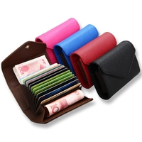 Dreamtop DTE138 saffiano leather women card holder fashion envelope design rfid card wallet