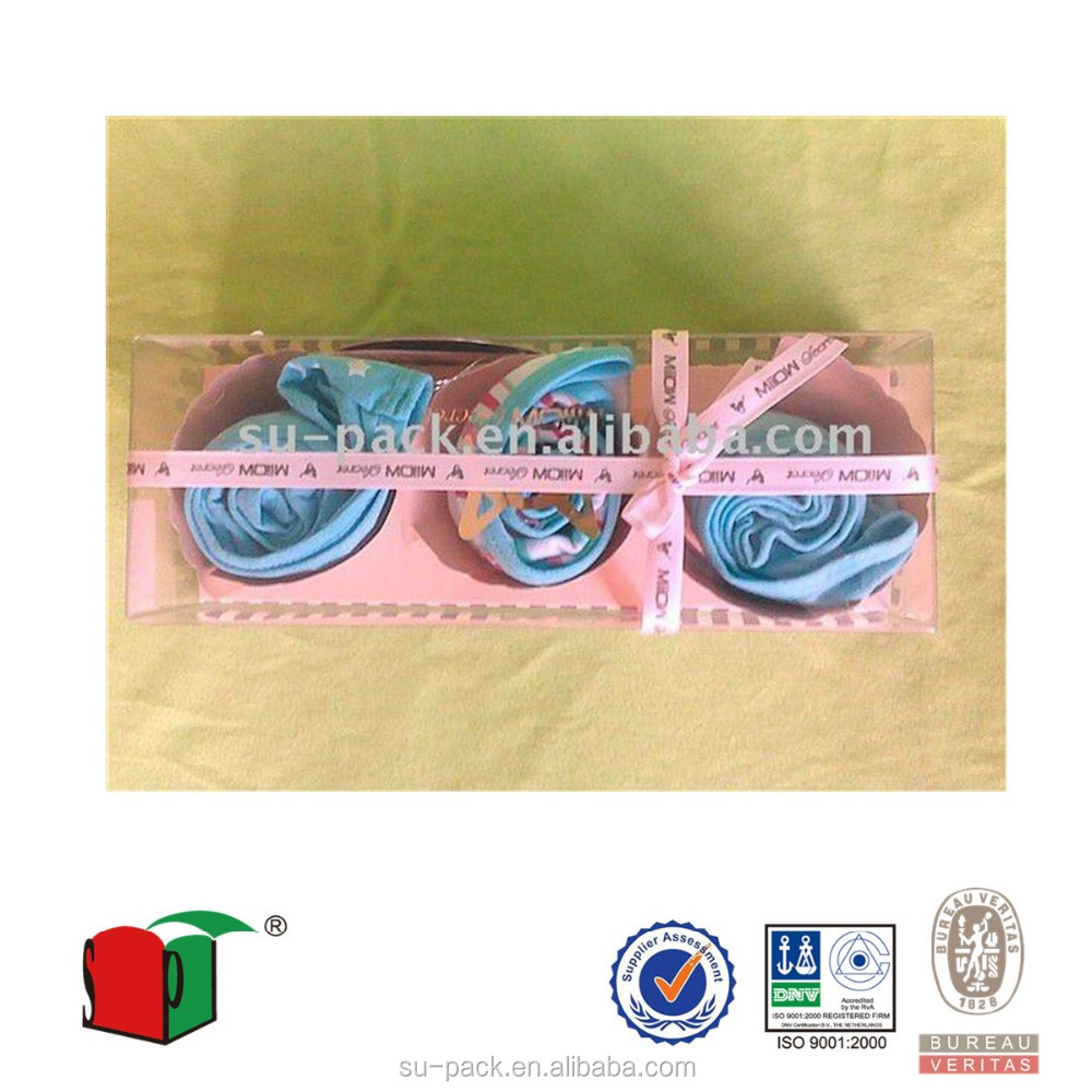 underwear plastic packaging box with paper card