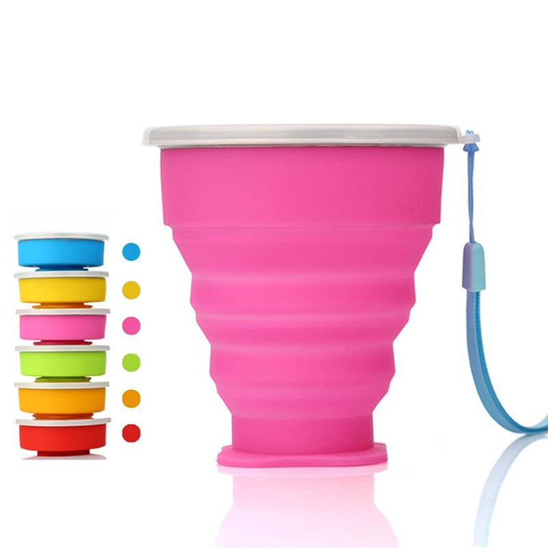 Amazon hot sale Outdoor Portable Silicone collabsible Cup For Travel Camping