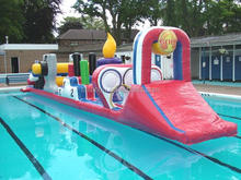 Inflatable Water Obstacle Course /floating water games for pool