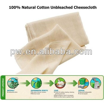 Unbleached Cheesecloth Fabric Ultra Fine 100% Natural Cotton Cheese Cloth 28 x 24 Threads Count Hot selling