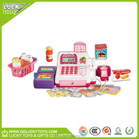 Plastic wholesale cash register with scanner toy for kids