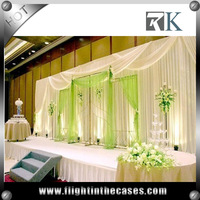 Cheap wholesale pipe and drape stage backdrop for wedding backdrop stand pipe drapery