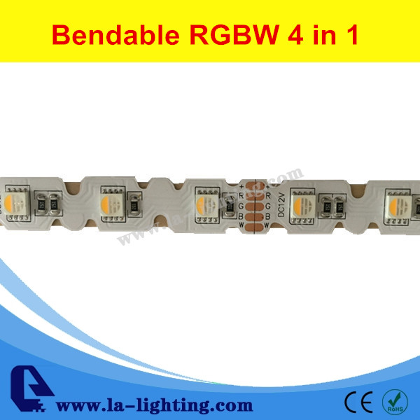 Bendable RGBW 4 colors in 1 LED light strip S shape led strip