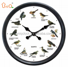 P2056 Singing Birds Sounds Vitage style digital plastic wall clock