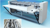 FGX series of corrugated paperboard sepapately slicing paper and rolling tha line machine and rotary slitter scorer