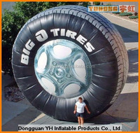 outdoor promotion advertising inflatable tire model balloon