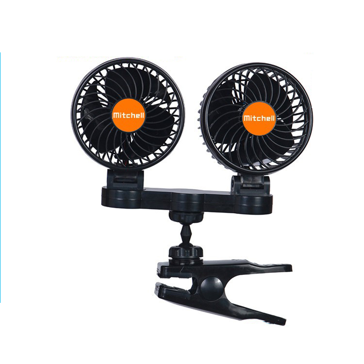 24/12v cheap fine workmanship two head car different parts of electric fan