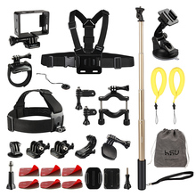 30-in-1 Go Pro Accessories Kit with Wirst/Head/Chest Strap Mount for Sport Camera Accessories Set/Pack