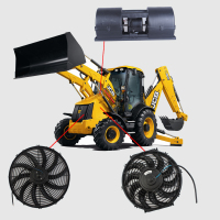 12V DC Brushless Cooling Electrical Axial Fan for Heavy Duty Truck