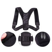 Neoprene/leather black excellent quality back support brace posture corrector for relief back pain