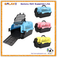 wholesale foldable metal wire dog cage; pet carrier basket; pet cage with wheels