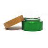 /product-detail/15g-30g-50g-100g-cream-glass-cosmetic-jar-green-bamboo-with-wood-cap-62169314452.html